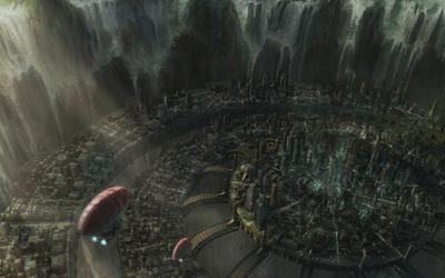 Round city wallpaper