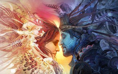 Royal couple wallpaper