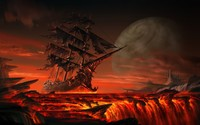 Sailing on lava wallpaper 1920x1200 jpg