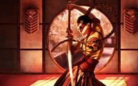 Samurai girl wallpaper 1920x1200 jpg