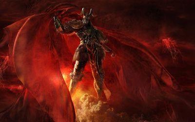 Scary demon in hell Wallpaper