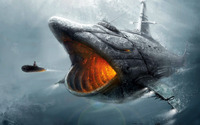 Shark submarine wallpaper 1920x1080 jpg