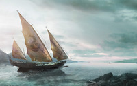 Ship heading North wallpaper 1920x1200 jpg