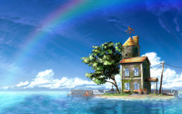 Small house on the little island wallpaper 1920x1080 jpg