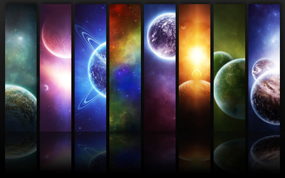 Small portions from the Universe wallpaper