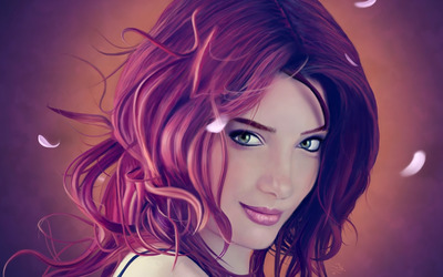 Smiling woman Wallpaper