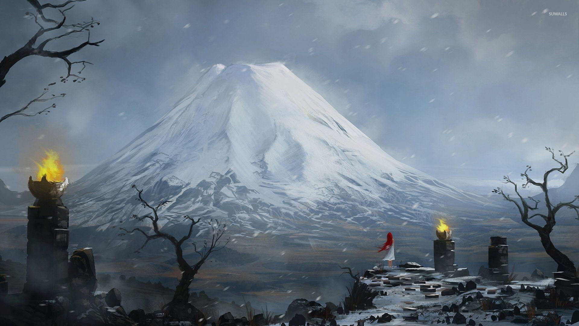 Top Wallpaper Mountain Fantasy - snowy-mountain-peak-46504-1920x1080  Perfect Image Reference_439783.jpg