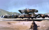 Soldiers heading to the hovercraft wallpaper 1920x1200 jpg