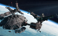 Space station near the planet wallpaper 1920x1080 jpg