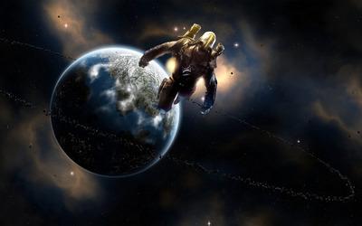 Spaceman wallpaper