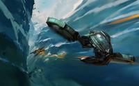 Spaceship battle wallpaper 1920x1080 jpg