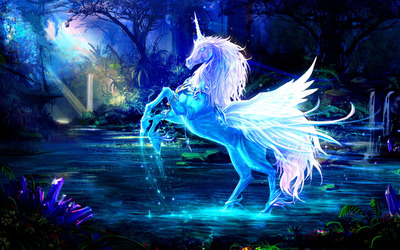 Sparkling crystal unicorn wallpaper