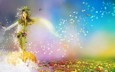 Spring fairy wallpaper
