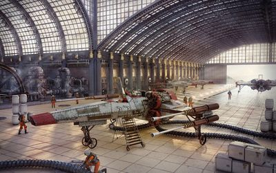 Star Wars hangar wallpaper