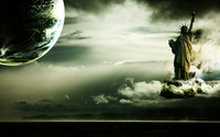 Statue of Liberty in parallel universe wallpaper 1920x1200 jpg