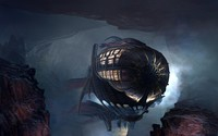 Steampunk blimp wallpaper 2880x1800 jpg