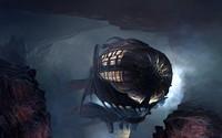 Steampunk blimp wallpaper 2880x1800 jpg