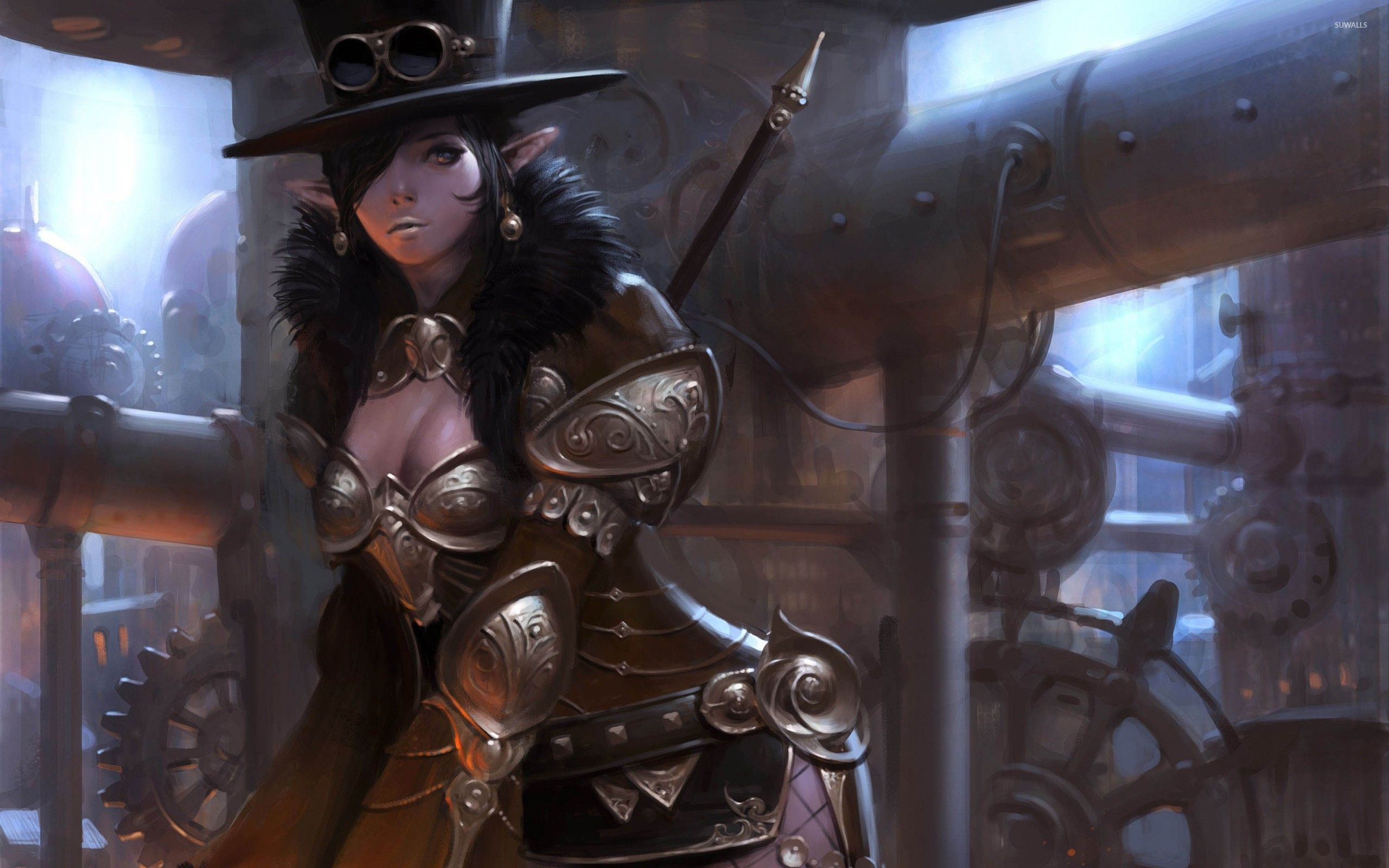 wallpapers steampunk girl eyes - photo #21