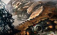 Steampunk spaceship wallpaper 1920x1200 jpg