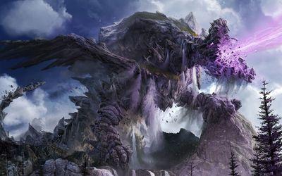 Stone dragon wallpaper