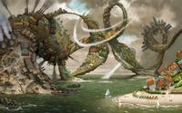 Swirly city wallpaper 2560x1600 jpg