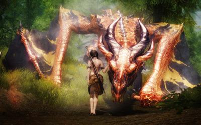 Taming the dragon wallpaper