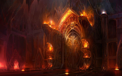 The gates of hell wallpaper