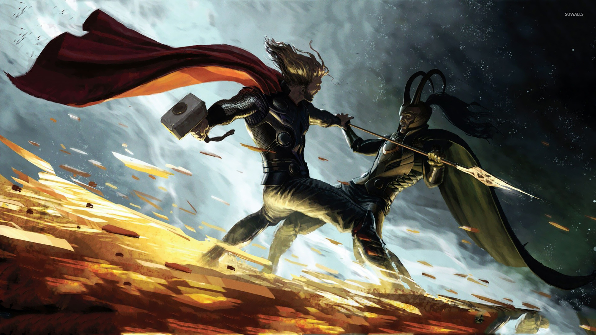 Thor vs Loki wallpaper - Fantasy