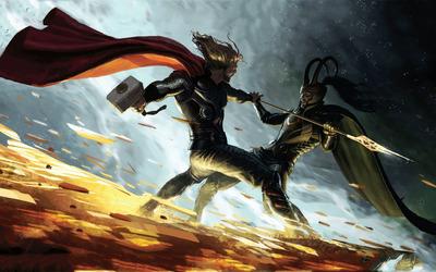 Thor vs Loki wallpaper