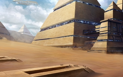 Towns in the pyramids wallpaper