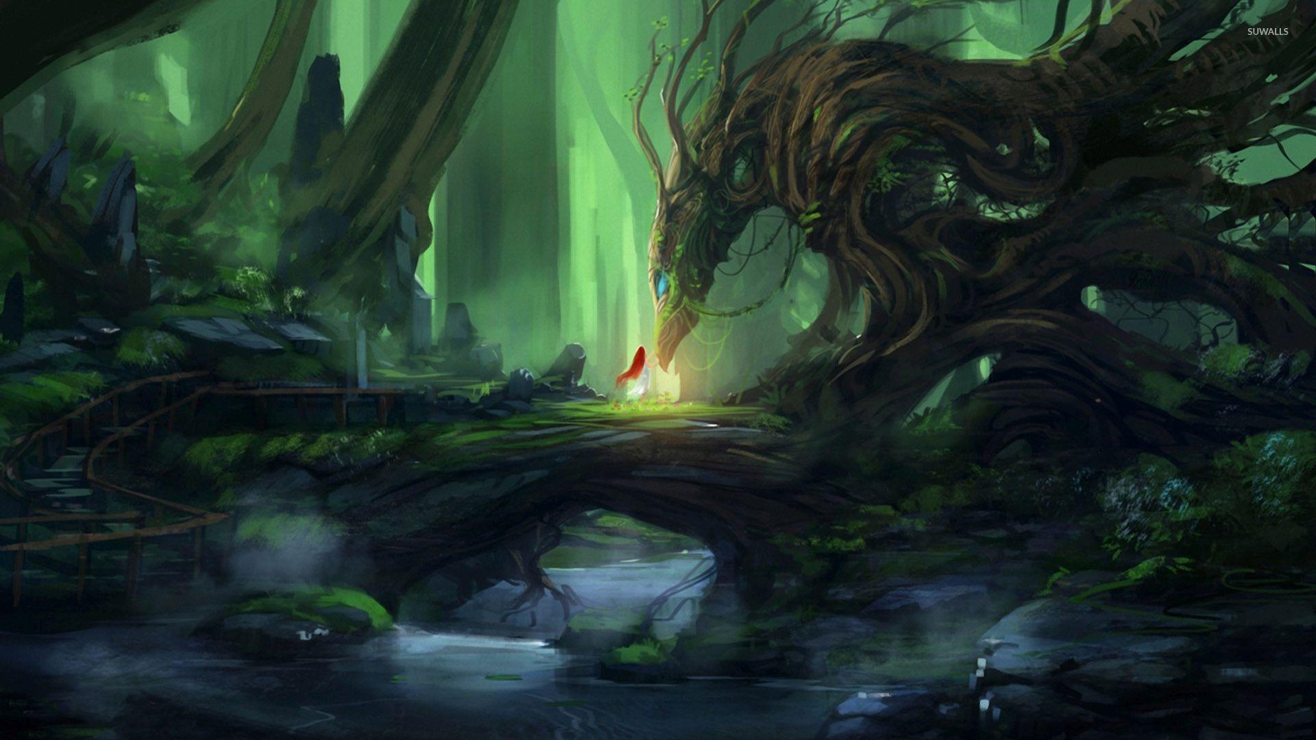 Tree Dragon Wallpaper Fantasy Wallpapers 46915