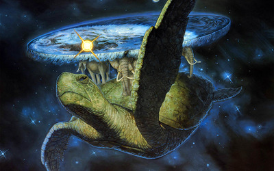 Turtle carrying the world wallpaper