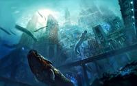 Underwater megalopolis wallpaper 2880x1800 jpg