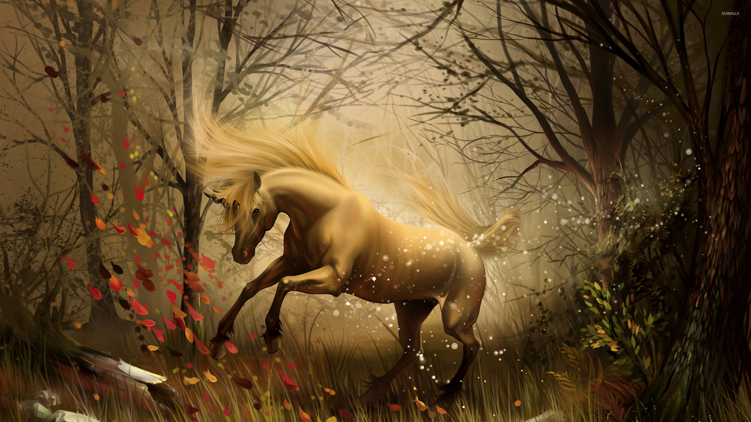 Download Wallpaper Halloween Unicorn - unicorn-in-the-enchanted-forest-23493-2560x1440  Picture_472943.jpg