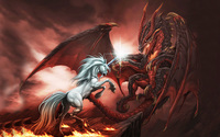 Unicorn vs Dragon wallpaper 2560x1600 jpg