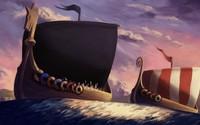 Viking ships wallpaper 1920x1080 jpg