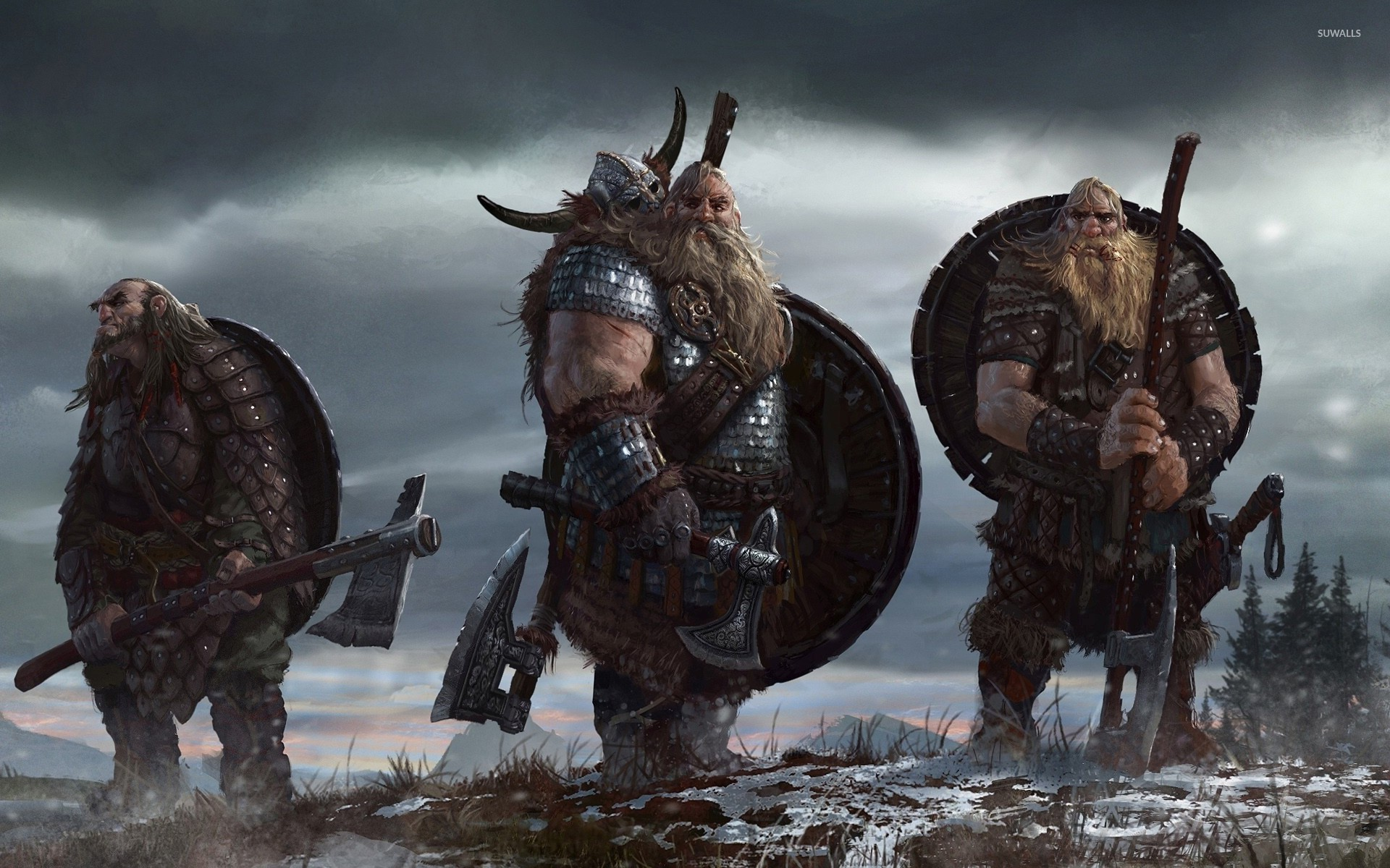 Vikings Ready For Battle Wallpaper
