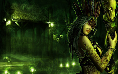 Voodoo Priestess wallpaper