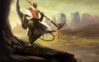 Warrior creature in the desert wallpaper 2880x1800 jpg