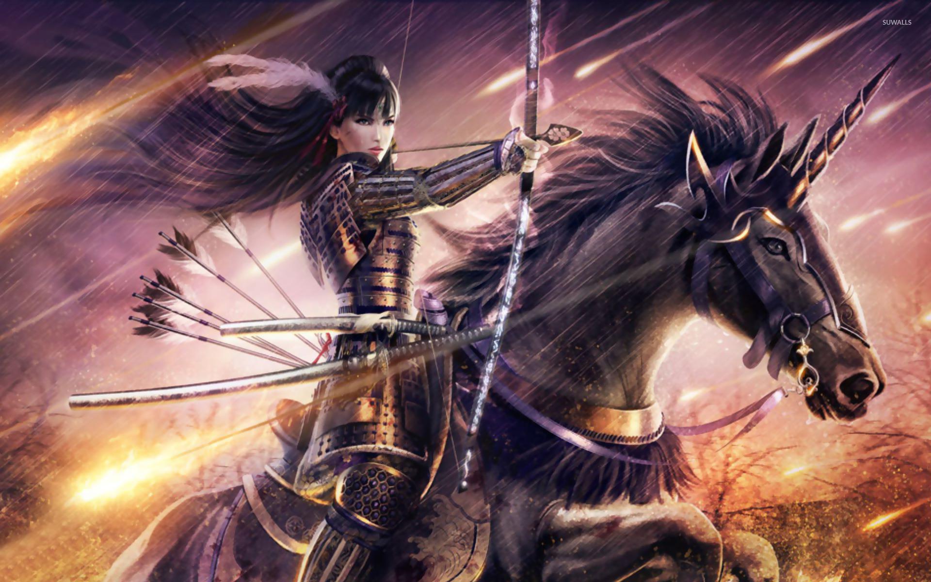 warrior girl wallpaper - fantasy wallpapers - #11732