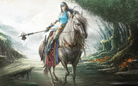 Warrior girl [2] wallpaper 1920x1200 jpg
