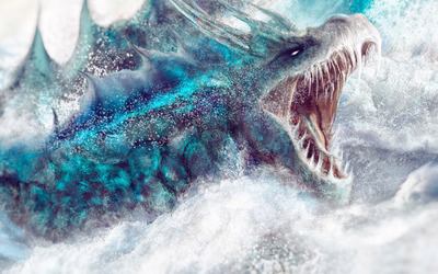Water dragon wallpaper