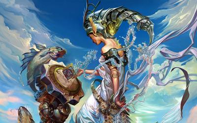 Water fairy wallpaper