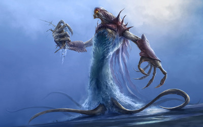 Water monster wallpaper