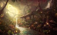 Waterfall in the jungle [2] wallpaper 2560x1600 jpg