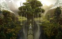 Waterfall tree wallpaper 1920x1200 jpg