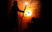 Wizard silhouette in the sunset wallpaper 2560x1440 jpg