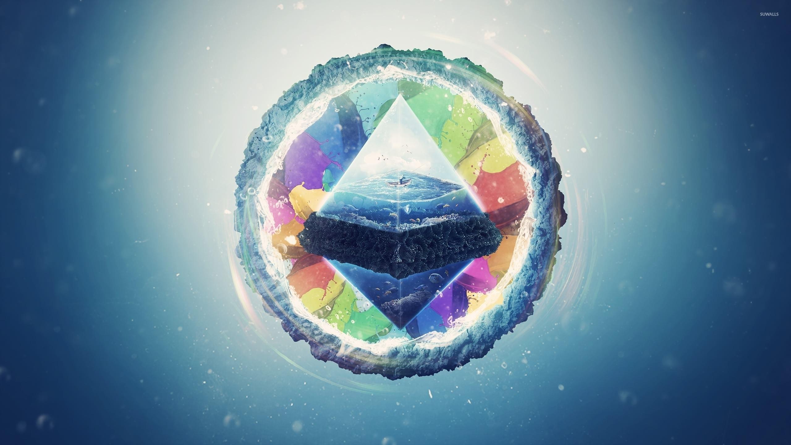World Inside The Pyramid Wallpaper