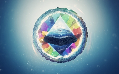 World inside the pyramid Wallpaper