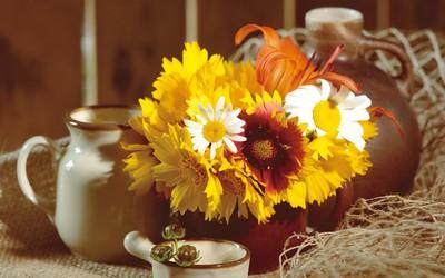 Autumn bouquet wallpaper